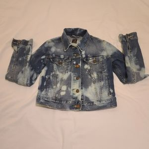 Levis Denim Jean Jacket Acid Wash Sz Small